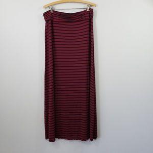 J. Crew Stripe Knit Stretch Maxi Skirt Large